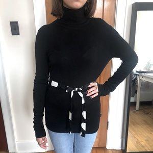 D •E •P •T  Turtleneck Sweater with Belt